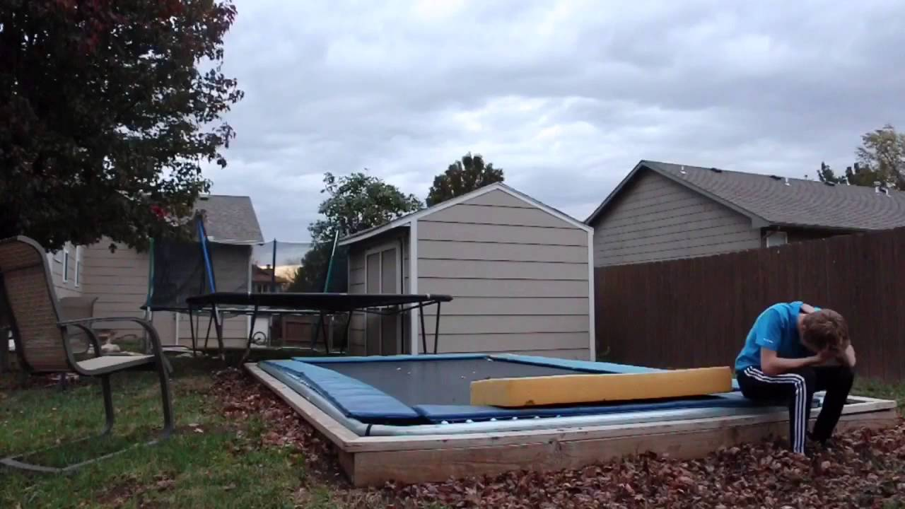 triple ball out fail on backyard trampoline youtube