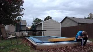 Triple Ball-Out FAIL on Backyard Trampoline!