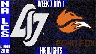 Video CLG vs FOX Highlights | NA LCS Summer 208 Week 7 Day 1 | CLG vs Echo Fox download MP3, 3GP, MP4, WEBM, AVI, FLV Agustus 2018
