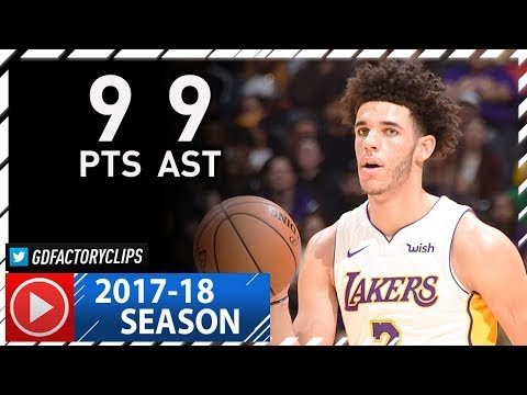 Lonzo Ball Full Highlights vs Grizzlies (2017.11.05) - 9 Pts, 9 Assists
