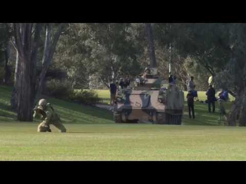 ADFA cadets demonstrate a section attack