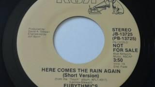 Eurythmics   Here Comes The Rain Again  45rpm short edit promo