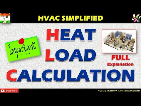 Heat Load Calculation HVAC - Full Explanation Simplified