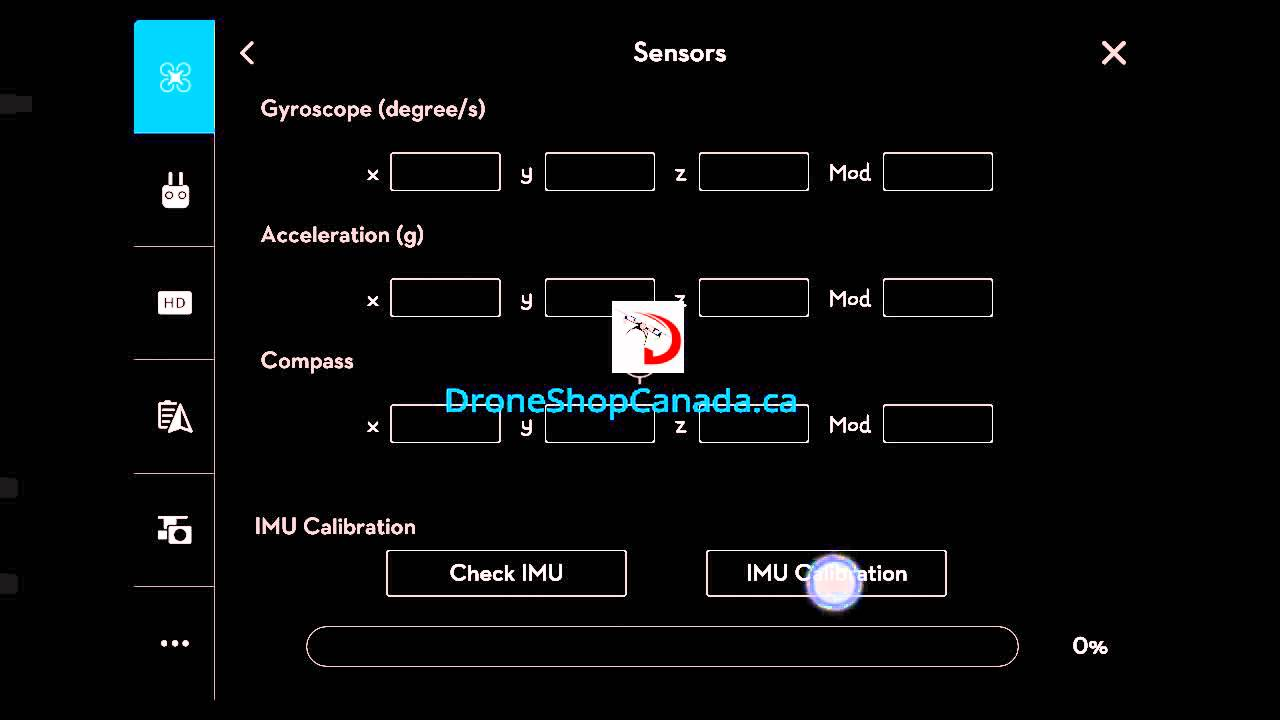 How To Start An Advanced IMU Calibration For DJI Go App