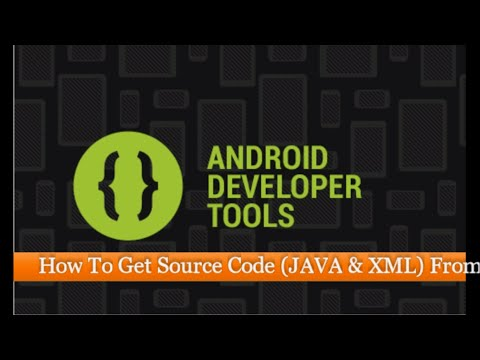How To Get Source Code (JAVA & XML) From An Android APK File