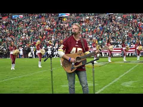 Jackson Dean Sings National Anthem At The Redskins Game.