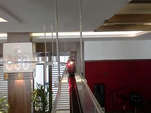 India's First Automatic Ceiling Model Train At Palash Bhopal Restaurant by decibel scale models