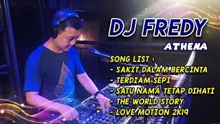 "Download DJ FREDY ""SAKIT DALAM BERCINTA vs TERDIAM SEPI vs SATU NAMA TETAP DIHATI"""