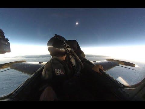 Solar Eclipse Intercept in a Fighter Jet (2017 Total Solar Eclipse)