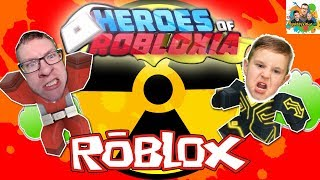 Squiddy Vision HD! Let's Play Roblox Heroes of Robloxia Mission 2 Toxic Takedown Walk-through