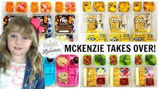 McKenzie Takes Over Bunches of Lunches | JK, K, 1st grade, 2nd Grade | FUN LUNCHES FOR KIDS!