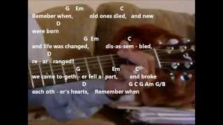 Remember When By Alan Jackson Practice Video With Chords And Lyrics