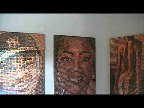 MOSAIC PENNY ART Oprah, Derek Jetter, Brad Culpepper
