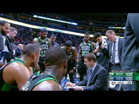 Jaylen Brown hits a BIG game-winning three after Brad Stevens timeout (01/29/2018)