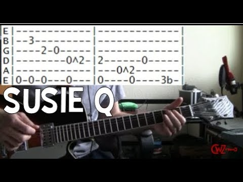 Creedence Clearwater Revival Susie Q guitar tab & chords lesson ...
