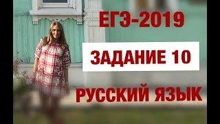 ЕГЭ-2019. Русский язык. Задание 10