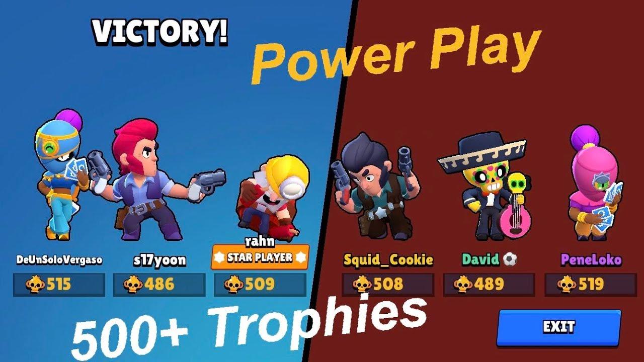 500+ Trophies Power Play: 13000+ Trophies Brawl Stars Account 3
