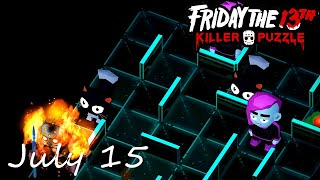 Friday the 13th Killer Puzzle Daily Death July 15 2020 Walkthrough