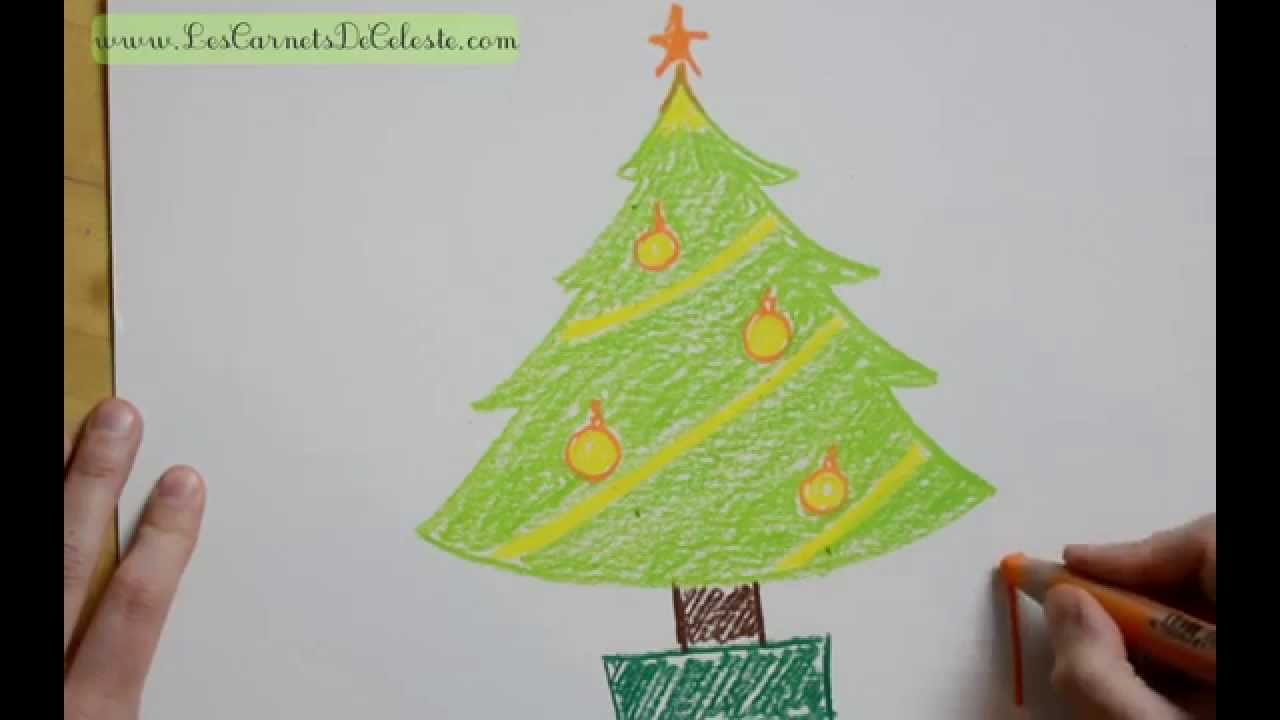 Comment Dessiner Un Sapin De Noël Youtube