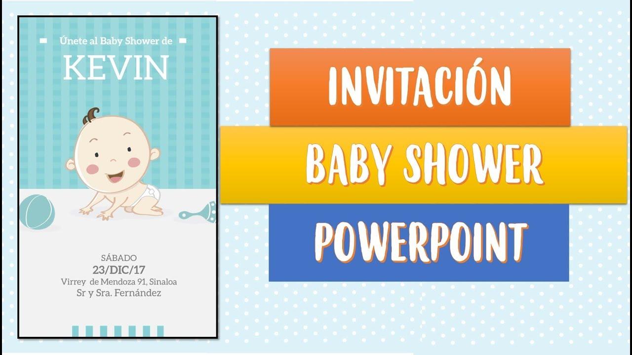 Invitaciones Baby Shower En Powerpoint Youtube