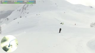 Видео спуска от верха