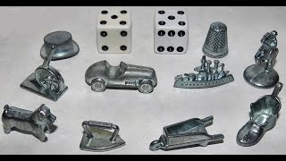 Monopoly Pieces, Metal Game Figures