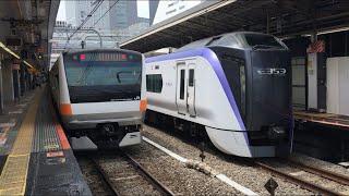 【ちゅうおうせん、あずさ】中央線快速 E233系、E353系 特急 あずさ(回送)@新宿駅
