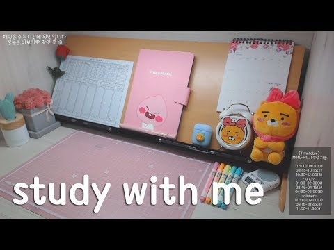 [19.03.24.SUN.] 📝같이 공부해요 / study with me (장작 타는 소리 ASMR)