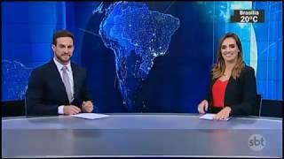 Inicio e encerramento do SBT Brasil (17/03/18) com Daniel Adjuto e Karyn Bravo (Sábado)