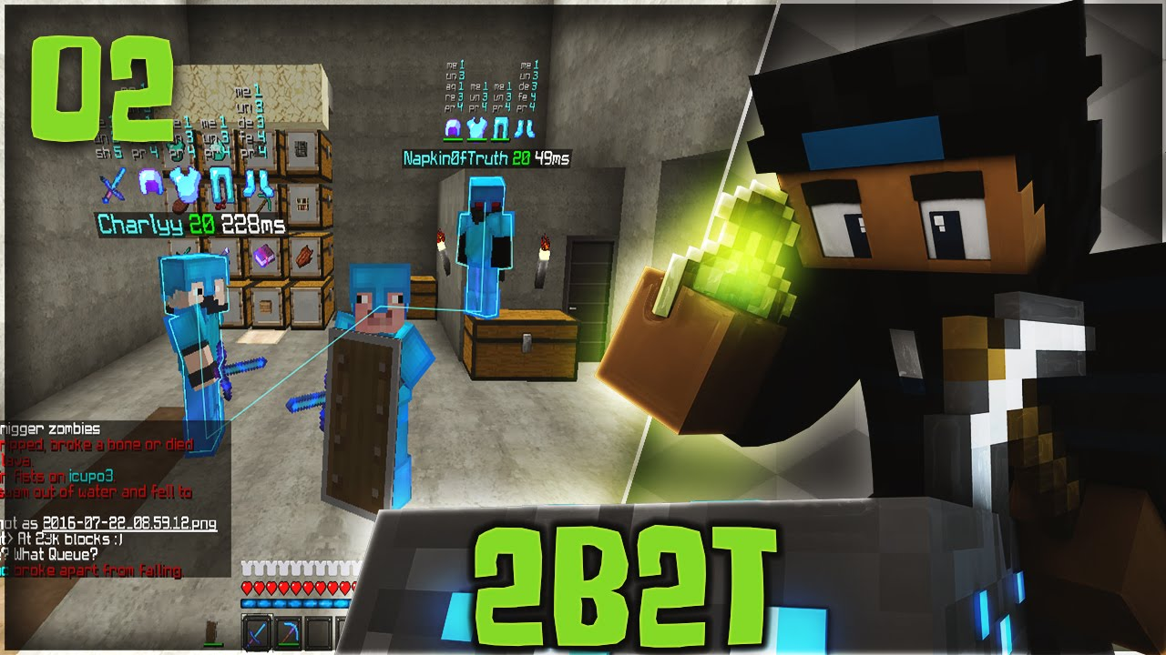 2b2t: RAIDING RICH DUPING STATION WITH NAPKIN0FTRUTH & HACKS!| OLDEST  SERVER ON MINECRAFT #2