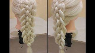 Многопрядная коса. коса из 7ми прядей. Самый простой способ научиться.👍😉