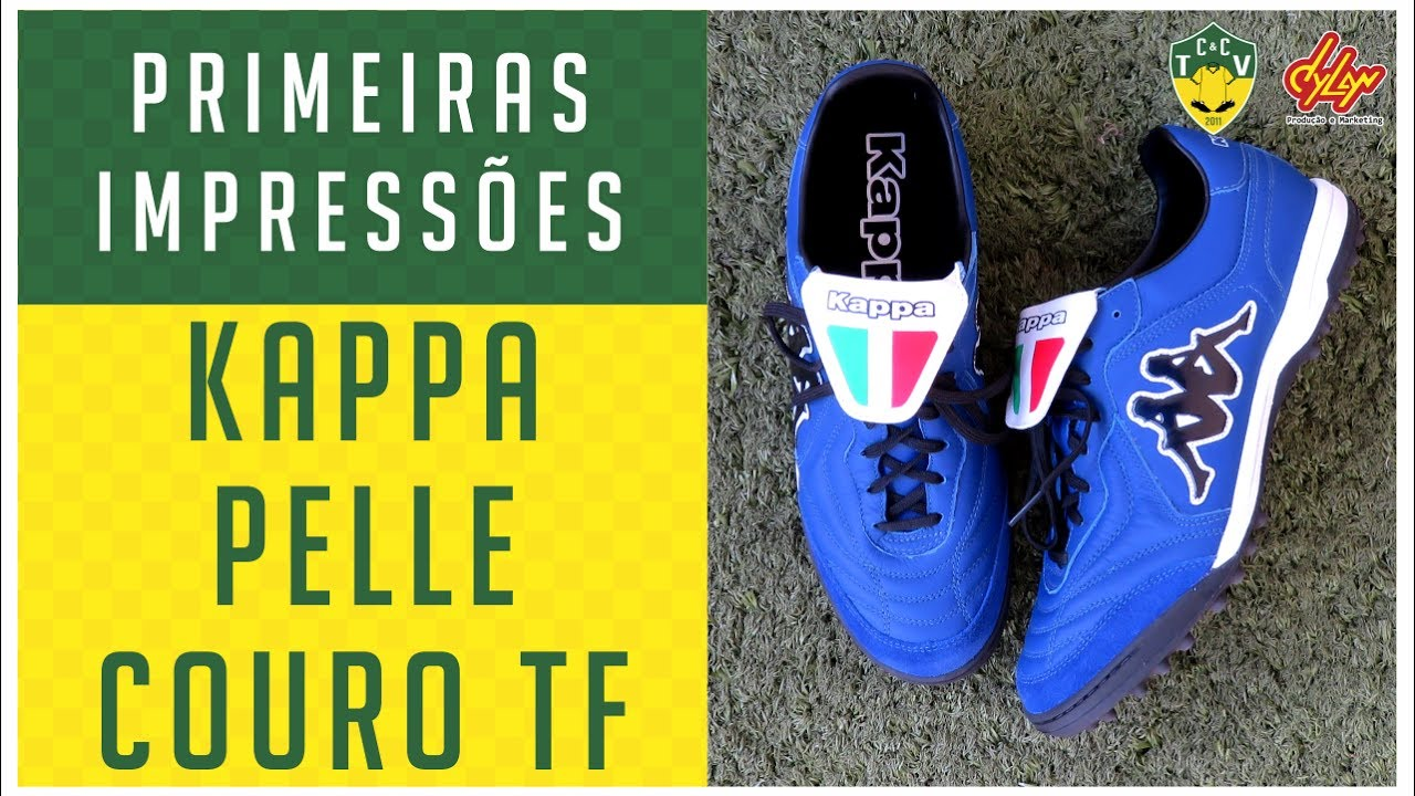 CHUTEIRA KAPPA PELLE COURO TF SOCIETY - PRIMEIRAS IMPRESSÕES ... f57baf3a1a2a1