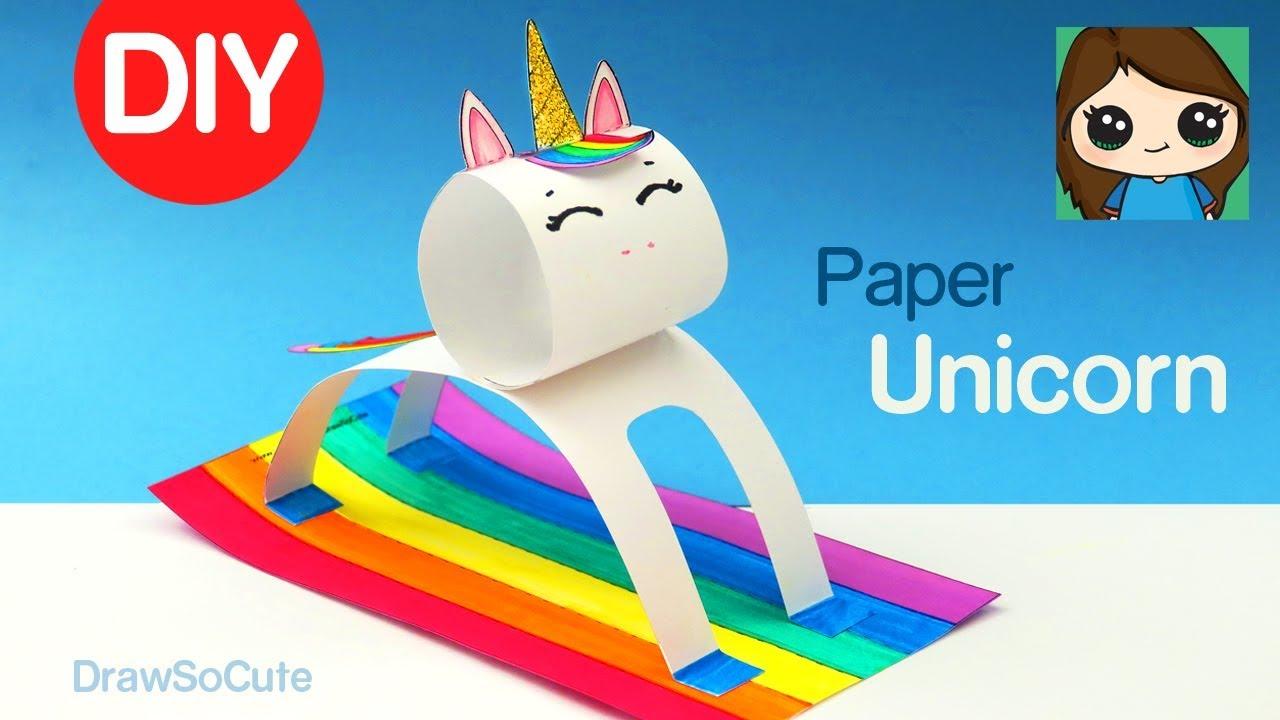 How To Make A Unicorn Easy Fun Paper Diy Animals Youtube
