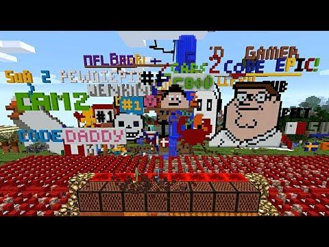 Pewdiepie Minecraft Note Block Stream Time Lapse Youtube