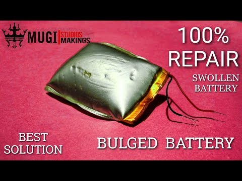 HOW TO REPAIR BULGED BATTERY| SWOLLEN BATTERY 100% SOLUTION