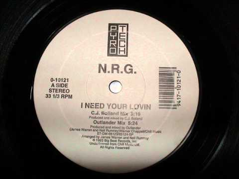 NRG (N.R.G.) - I need your lovin' - CJ Bolland Mix