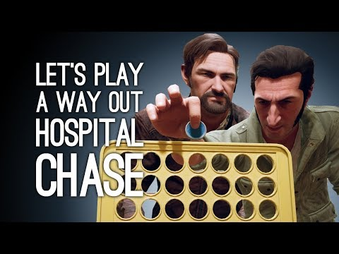 A Way Out Gameplay: ANDY AND JANE'S HOSPITAL CHASE - Let's Play A Way Out Pt. 4