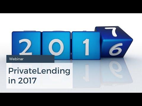 PMA Webinar - Private Lending in 2017