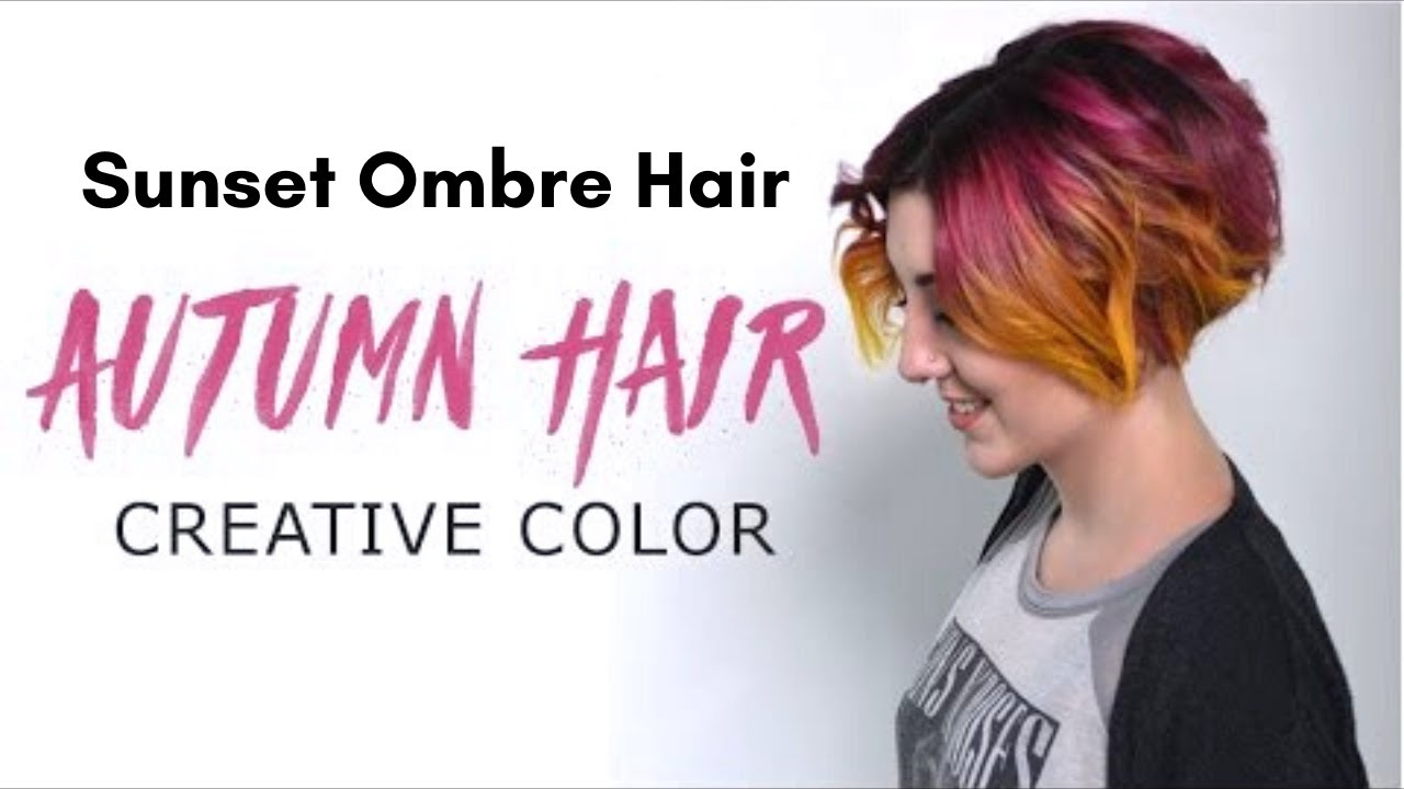 Autumn Hair Fall Creative Hair Color Tutorial Youtube