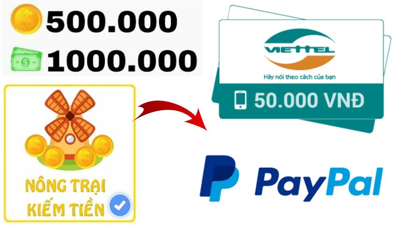 [Mới] Ứng Dụng Chơi Game Nông Trại Kiếm Thẻ Cào 100K Miễn Phí | Kiếm Tiền Online