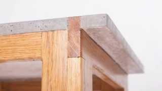 Wood Concrete Stool By Ab Concrete Design