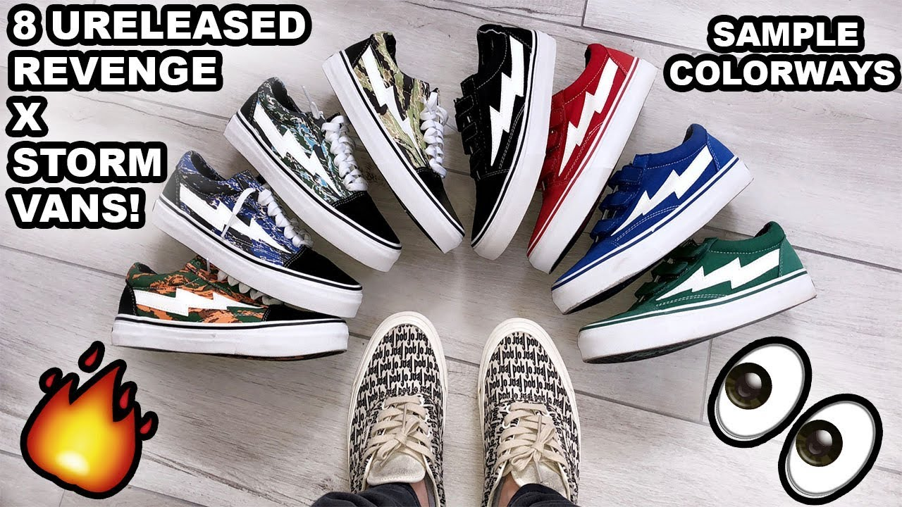 IAN CONNOR GAVE ME 8 PAIRS OF SAMPLE REVENGE X STORM VANS!!! - YouTube 9401b7250