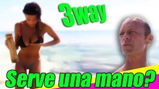 Rocco Siffredi sesso a tre con Cristina e Rachida, three way sex, isola dei famosi
