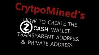 ZCash Geldbeutel und Adresse: so Erstellen Sie Ihr Transparentes t-addr und Pivate z-addr ZEC