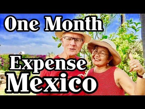 One Month Expenses Living In Mexico