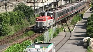 東急3000系 3001F J-TREC出場・甲種輸送(DE10-1666牽引)