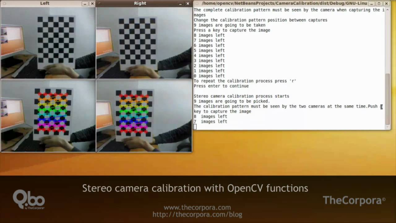 Stero camera calibration with OpenCV functions