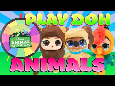 LOL Surprise Dolls Disney Animals Spin the Wheel Game! With Sugar and Spice | LOL Dolls Families |