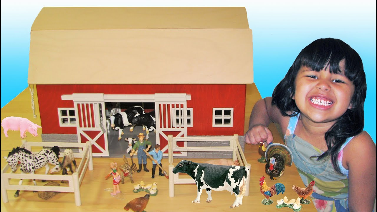 Schleich Barn Farm Animals Learn Names and Sounds Educational for