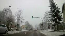 Driving through Stuttgart Möhringen - Germany Winter